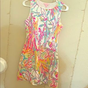 Multicolored Lilly Pulitzer dress with open back